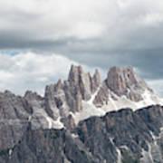 Cinque Torri Area In The Dolomites Poster