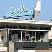 Circa 1940s Carls Ice Cream Poster
