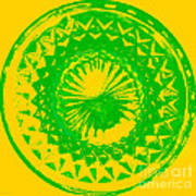 Circle Yellow Poster