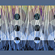 Circles Abstract Art  Poster
