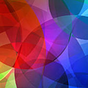 Circles In Colorful Abstract Poster