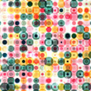 Circles Pattern Retro Background Poster
