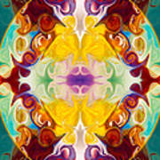 Circling The Unknown Abstract Healing Artwork By Omaste Witkowsk Poster