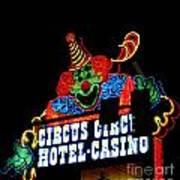 Circus Circus Sign Vegas Poster