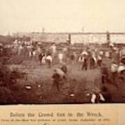 Circus Train Wreck, 1896 Poster