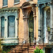 Cities - Albany Ny Brownstone Poster