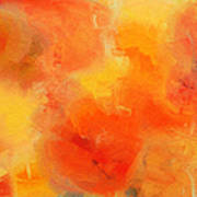 Citrus Passion - Abstract - Digital Painting Poster