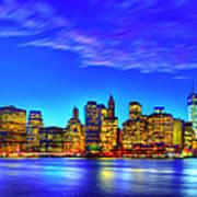 City Blue Poster