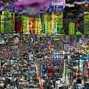 City Dawn Art Cityscape  Poster