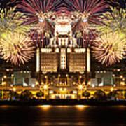 City Fireworks Poster