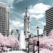 City Hall In Spring Poster