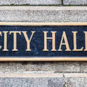 City Hall Municipal Sign In Chicago Poster by Paul Velgos