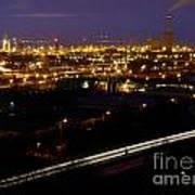 City Lights At Night Poster