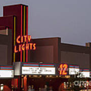 City Lights Marquee Poster