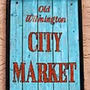 City Market Sign Poster