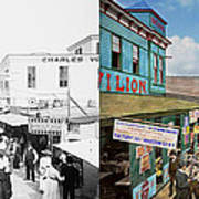City - Ny - The Bowery 1900 - Side By Side Poster