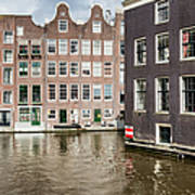 City Of Amsterdam Canal Houses Poster