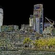 City Of London Art Poster