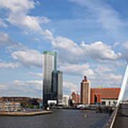 City Of Rotterdam From Erasmus Bridge Poster