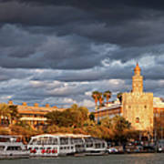 City Of Seville At Sunset Poster