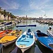 City Of Split Colorful Harbor View Poster