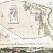 City Plan Or Map Of Pompeii Poster