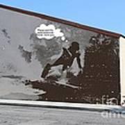 City Surfin Street Art Poster