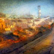 Cityscape #17 - Redpolis Poster