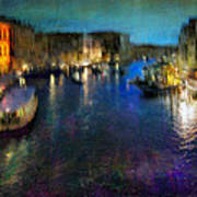 Cityscape #19. Venetian Night Poster