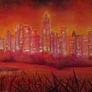 Cityscape Gold Coast Poster