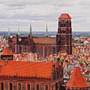 Cityscape Of Gdansk Poster