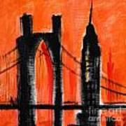 Cityscape Orange Poster