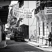 Ciudad Vieja Calle Poster