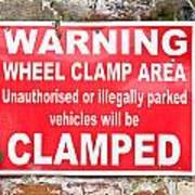 Clamping Sign Poster