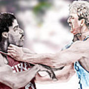 Clash Of The Titans 1984 - Bird And Doctor  J Poster by Reggie Duffie