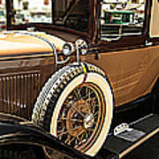 Classic 1928 Ford Model A Sport Coupe Convertible Automobile Car Poster