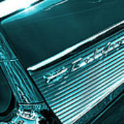 Classic '57 Teal And Chrome Poster