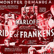 Classic Bride Of Frankenstein Poster Poster