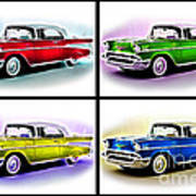 Classic Car Pop Art Poster by Jo Collins