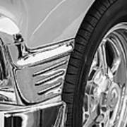 Classic Car Reflections - Training Wheels -179bw Poster