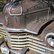 Classic Car With Rust Poster
