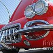 Classic Chevrolet Corvette Automobile Poster