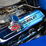 Classic Chevy Power Plant Poster