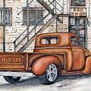 Classic Chevy Pu Poster