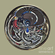 Classic Engine Orb Abstract Poster