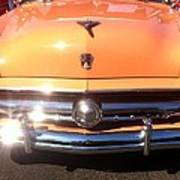 Classic Ford Car Hood Peach Poster