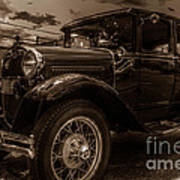 Classic Ford - Sepia Poster
