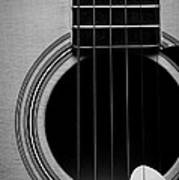 Classic Guitar In Black And White Poster
