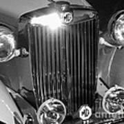 Classic Mg Roadster Motor Car Poster
