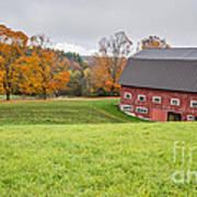 Classic New England Fall Farm Scene Poster